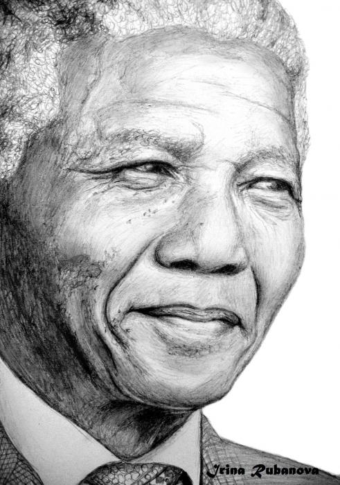 Nelson Mandela by IrinaRubanova